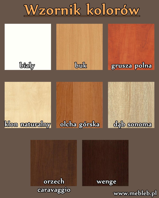Wzornik kolorów płyt meblowych kronopol