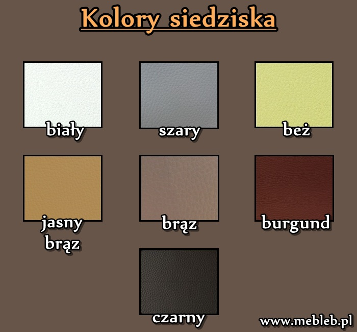 wzornik kolorów siedziska do szafki na buty
