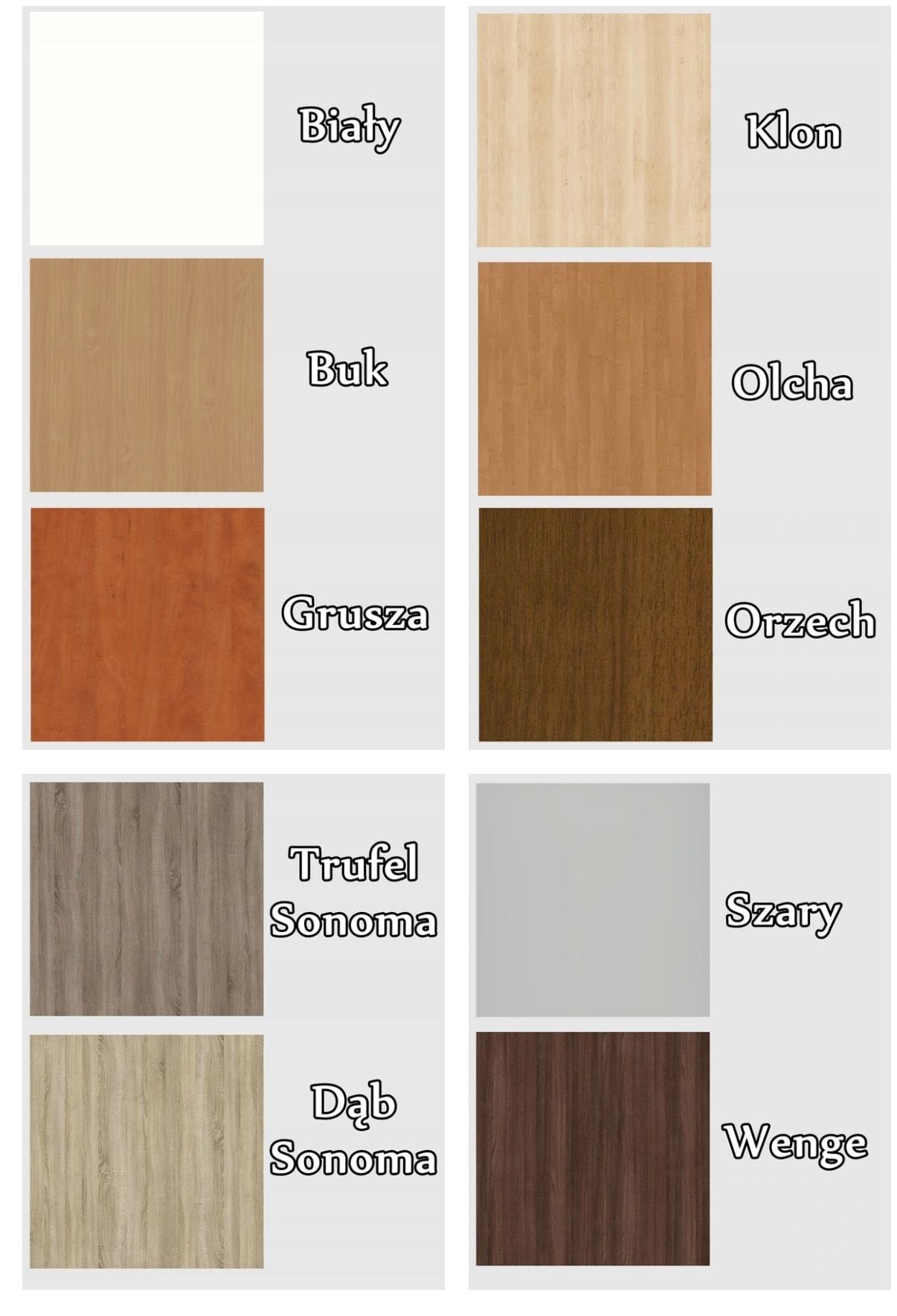 wzornik kolorów płyt pfleiderer